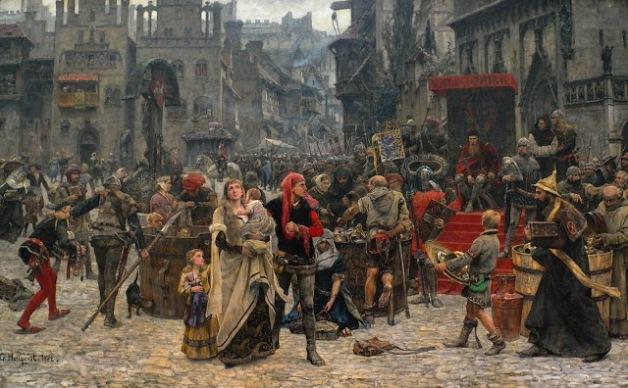Carl+Gustaf+Hellqvist--Valdemar+Atterdag+holding+Visby+to+ransom,+1361.1882+via+mazmorramaldita.blogspot.fr