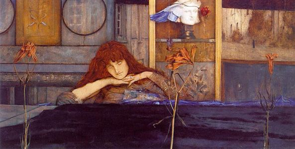 fernand-khnopff-i-lock-my-door-upon-myself-1891