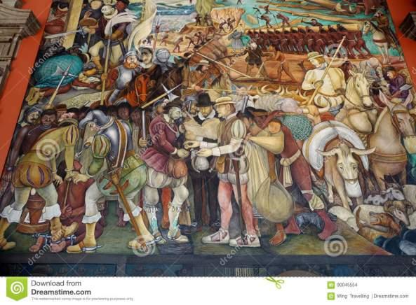 muurschildering-door-diego-rivera-mexico-90045554