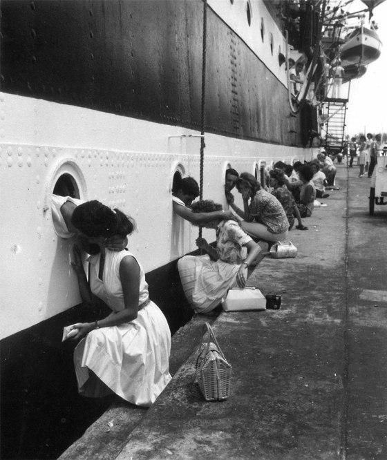 American-Soldiers-Getting-Last-Kiss-On-Ship-Before-Deployment-To-Egypt-1963