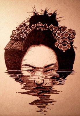 geisha_pyrography_by_satorisoto-da0et2x