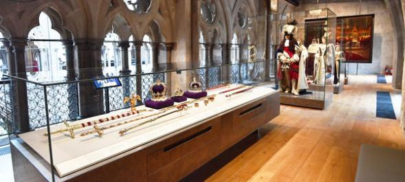 The preview for the opening of Queen's Diamond Jubilee Galleries at Westminster Abbey, London. PRESS ASSOCIATION Photo. Picture date: Tuesday May 29, 2018. The previously private area 50 feet (16m) above the main Abbey floor will contain more than 300 treasures spanning its 1,000-year history. Photo credit should read: John Stillwell/PA Wire