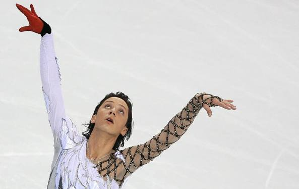 US Johnny Weir performs during the men's